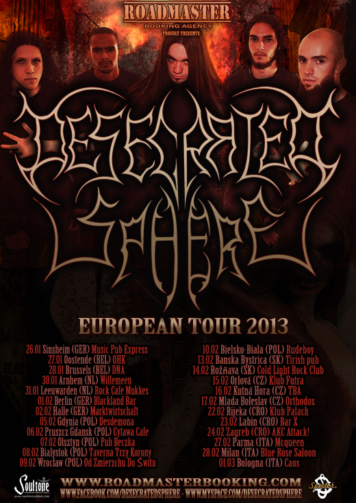 Desecrated Sphere - Flyer Tour datas final - 2013 web