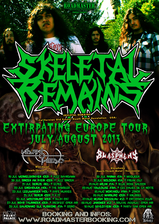 SKELETAL REMAINS Flyer Eurotour 2013 dates WEB