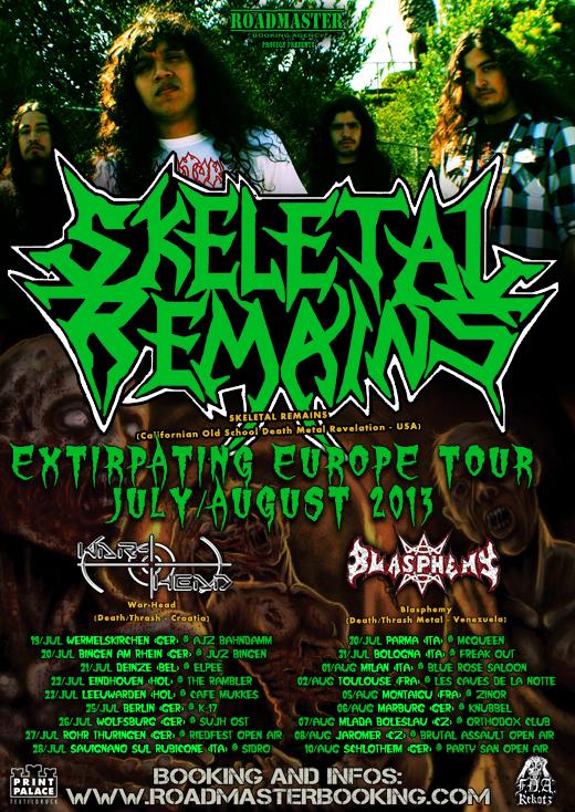 SKELETAL REMAINS Flyer Eurotour 2013 dates WEB