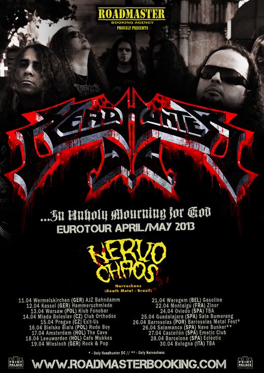 HEADHUNTER DC Flyer Eurotour 2013