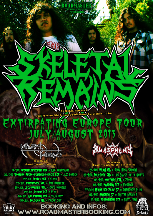 SKELETAL REMAINS Flyer Eurotour